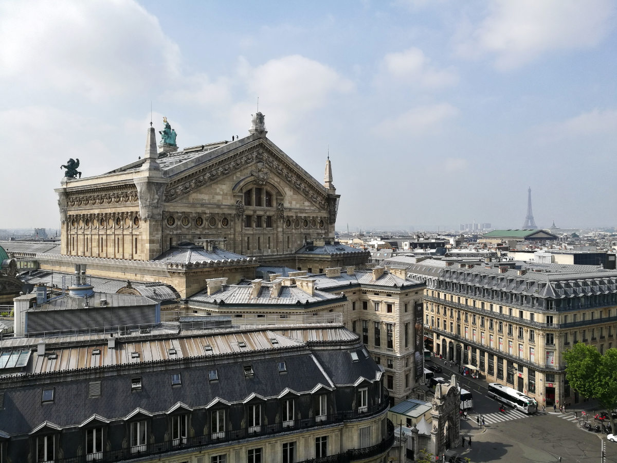 View from roof of Galerie Lafayette