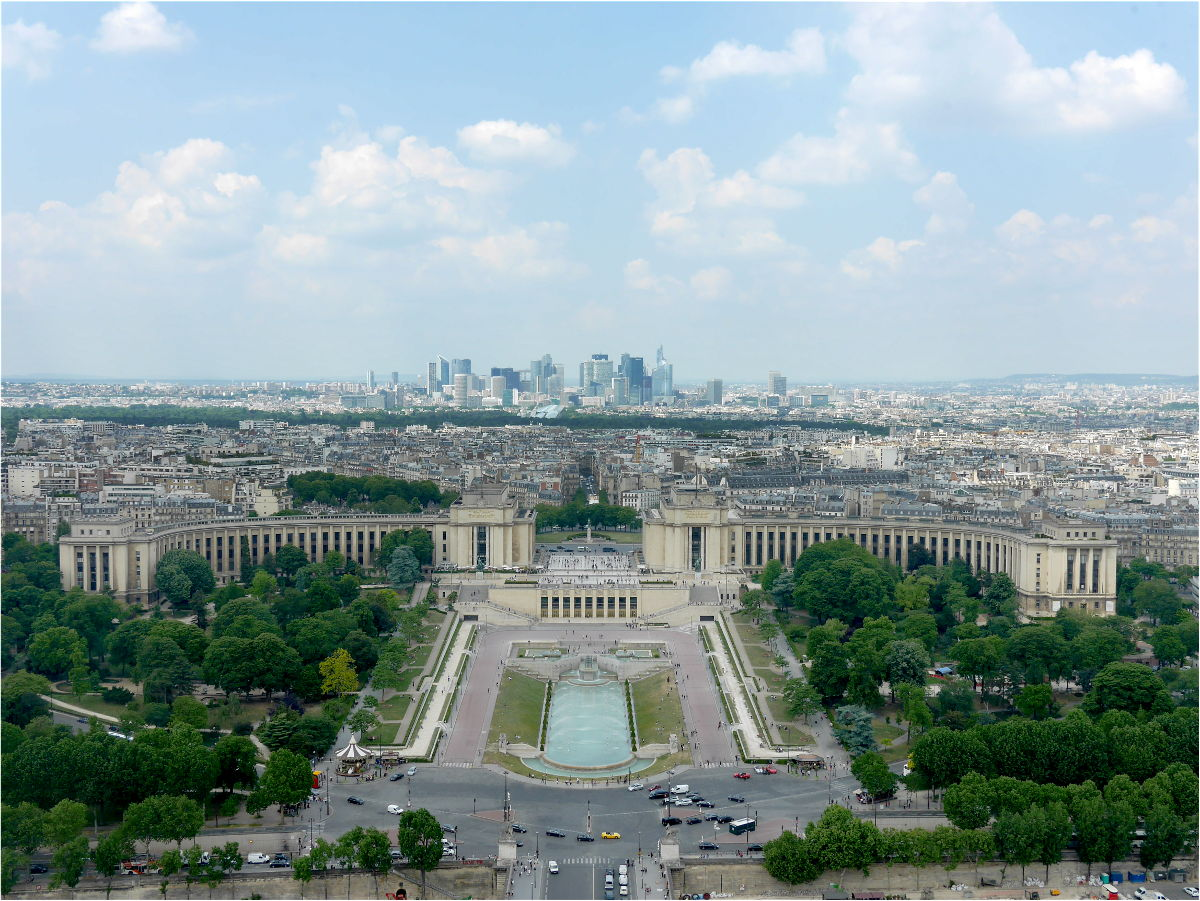 Paris skyline from Eiffel Tower